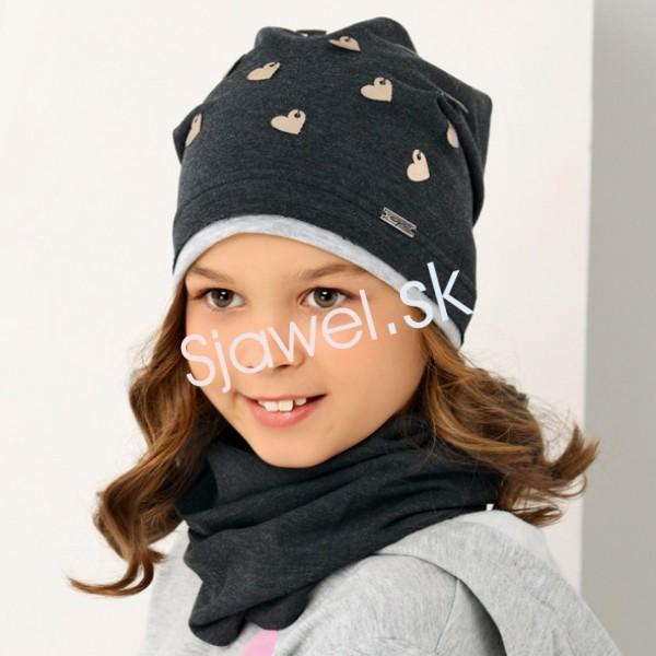 e4403b9c0 Detské čiapky dievčenské prechodné - jar / jeseň - 1 / 152 - 48/50