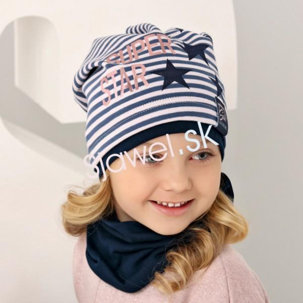 590375829 Detské čiapky dievčenské prechodné - jar / jeseň - 1 / 150 - 52/54