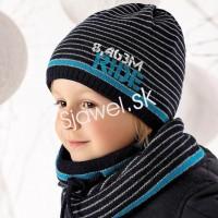 ff7868781 Detské čiapky chlapčenské + nákrčník - zimné - model - 808