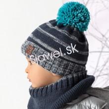 ce402f30a Detské čiapky - zimné - chlapčenské s nákrčnikom - (tunelom)- model - 843