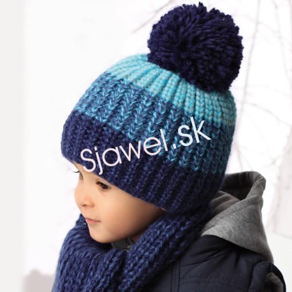 bafb1e951 Detské čiapky zimné - chlapčenské so šálikom - model - 850