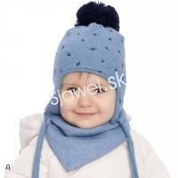 2d78c952e Detské čiapky kojenecké chlapčenské + nákrčník - zimné - model - 882