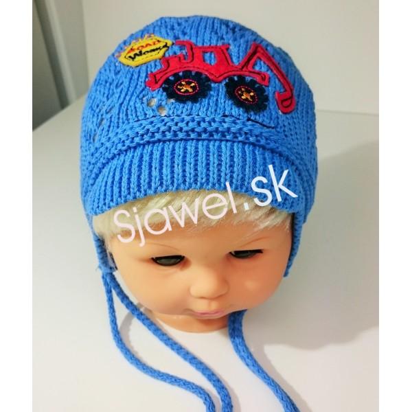 13d4db957 Detské čiapky chlapčenské prechodné jarné / jesenné model 253 - B - 42/46