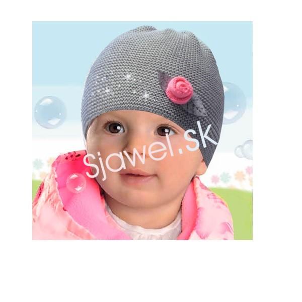 b3eb92436 Detské čiapky dievčenské prechodné jarné / jesenné model 117 - 44/46