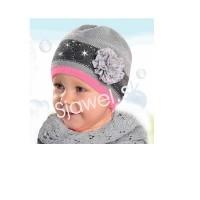 Detské čiapky dievčenské prechodné - jarné / jesenné model 120 - 50/52