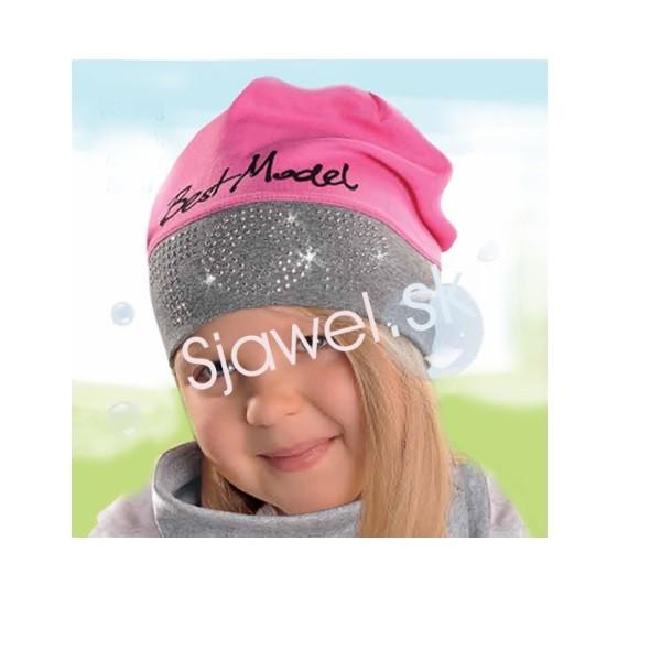 85ce3825c Detské čiapky dievčenské prechodné jarné - jesenné model 137