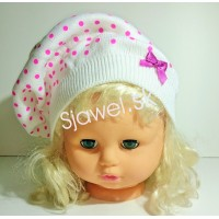 Dievčenská  čiapka  jarná  model - 145 - A