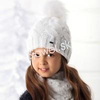 f210719b3 Detské čiapky zimné dievčenské s tunelom ( nákrčnikom ) - model - 1 / 710