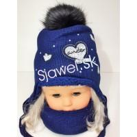 579104c19cb6 Detské čiapky zimné - dievčenské + šálik - model - 1 714
