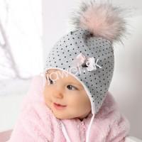 f222f83d8 Detské čiapky kojenecké zimné dievčenské - model - 752