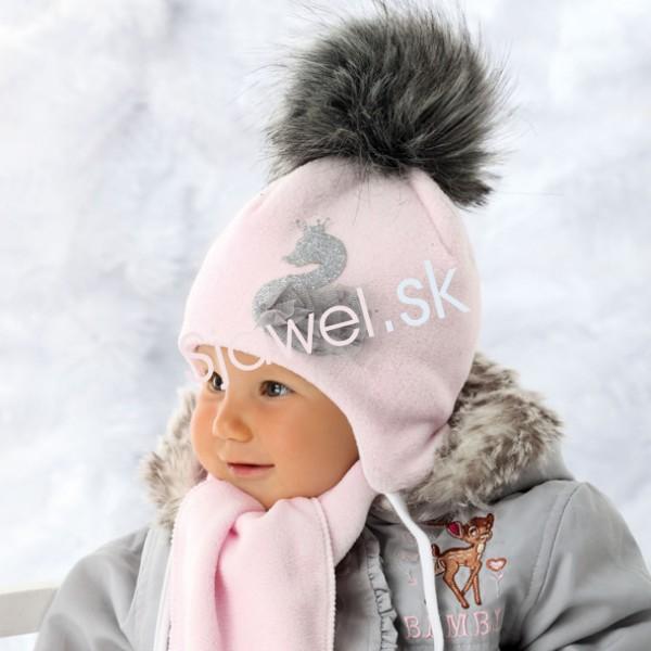 3142cbf8f Detské čiapky kojenecké zimné dievčenské + šál - model 764