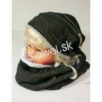 57c6a7579 Detské čiapky dievčenské zimné + nákrčník - model 782 - B