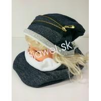 4b63d551b Detské čiapky dievčenské zimné + nákrčník - model 782 - C
