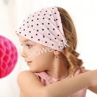 Bavlnená čelenka - model - 1038 - 48 - 50 cm